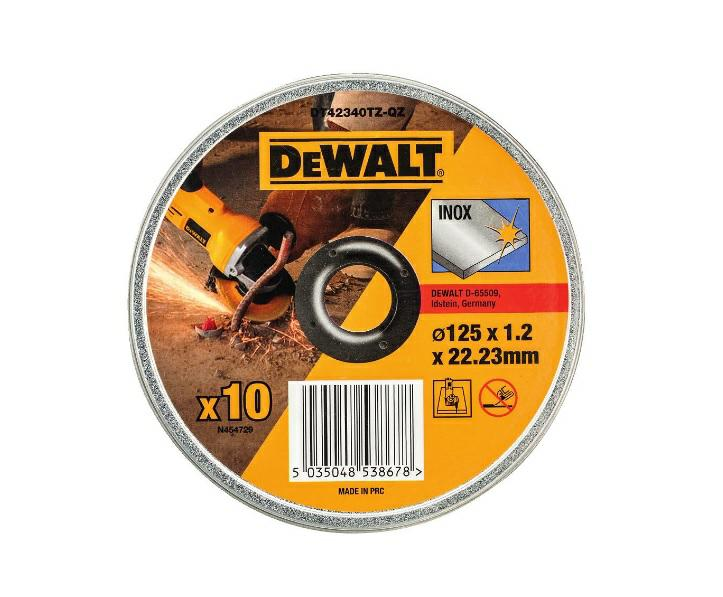 Lõikeketas DeWalt 125 x 1,2 INOX - DT42340TZ 10 tk