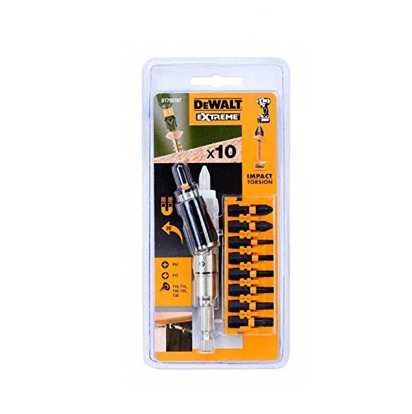 Otaskute komplekt DeWalt + nurga alla keeratav otaskuhoidja, DT70578T